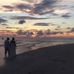 Sunset Wedding on Anna Maria Island beach