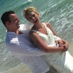 sunset beach wedding on anna maria island
