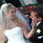 Bride and groom at Lakewood Ranch Country Club by Visions Unlimited Video Productions