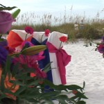 Flowers by Silva dress up Sandbar wedding video