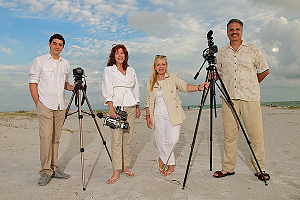 Visions Unlimited Expert Videography Team: Sean, Leslie, Tina & Mark